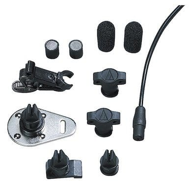 audio-technica AT899 lav mic with accessories