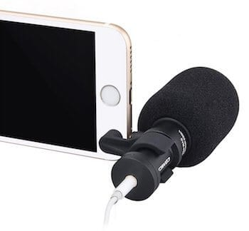 Comica CVM-VS08 Professional Cardioid Condenser Directional Mini Shotgun Microphone for SmartPhones