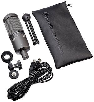 audio-technica at2020usb plus with accessories