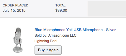 Blue Yeti for  during amazon prime day
