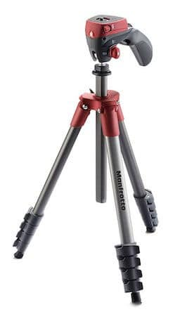 Manfrotto Compact Action Tripod (Red)