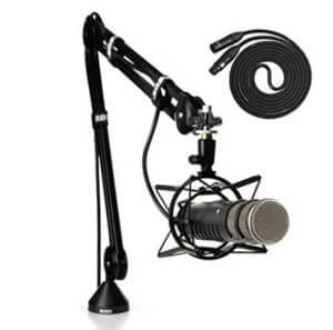 rode procaster microphone, shock mount and boom kit