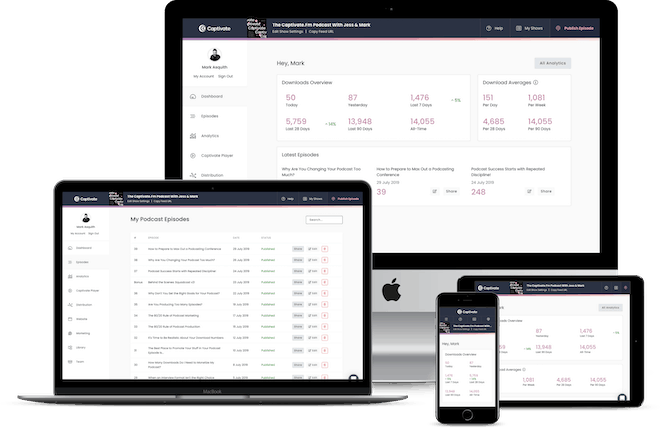 Captivate dashboard on multiple screen sizes