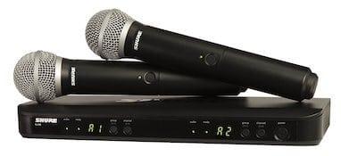 Shure BLX288/PG58 2 mic set