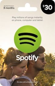 $30 Spotify Gift Card