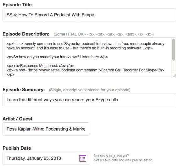 Buzzsprout episode details