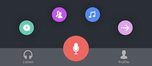 anchor ios app add audio buttons