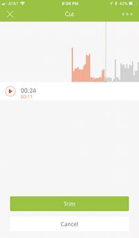 podbean ios app trim audio screen