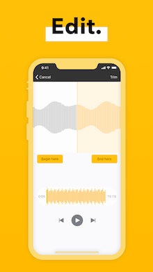 Spreaker Edit mobile app mockup