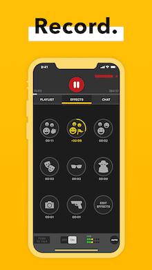 Spreaker Record Mobile App mockup