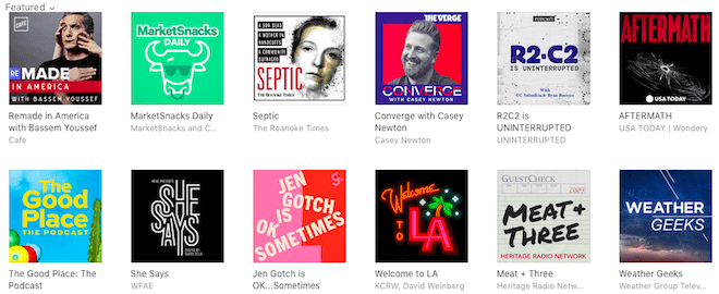 podcast cover art from new and noteworthy