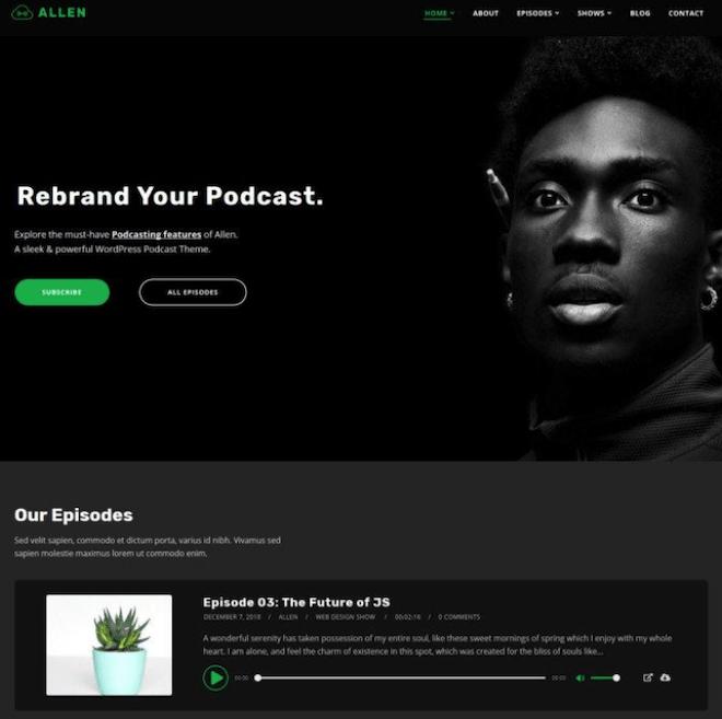 Tusant Podcast WordPress Theme
