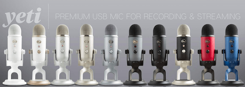 Blue Yeti Microphone Black Friday (all colors)