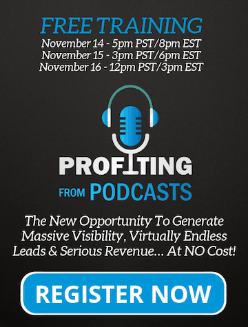 Profiting From Podcasts Webinar Registration