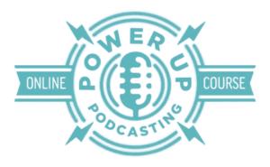 Power-Up Podcasting logo
