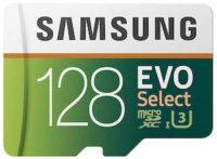 Samsung 128GB U3 MicroSDXC EVO Select Memory Card