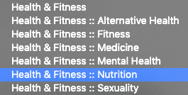 Health & Fitness ></noscript> Nutrition subcategory for Apple Podcasts
