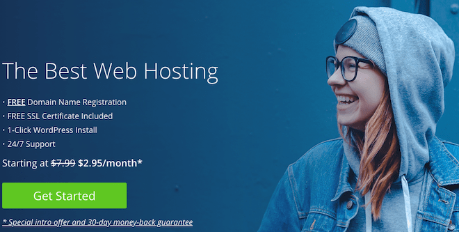 Bluehost Get Started .95/month