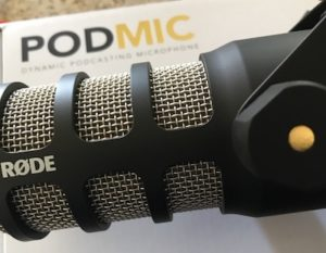 Rode PodMic In Front of Box