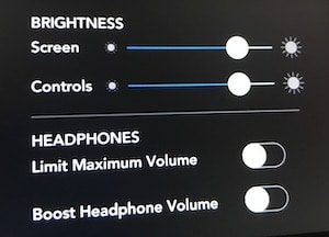 Rodecaster Pro brightness and headphone settings