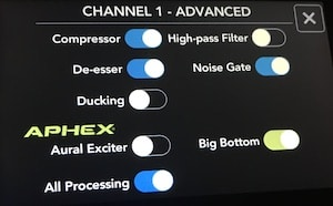 Rodecaster Pro channel 1 advanced