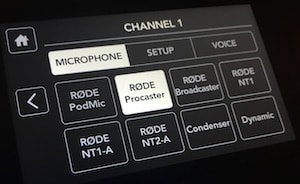 Rodecaster Pro channel 1 microphone