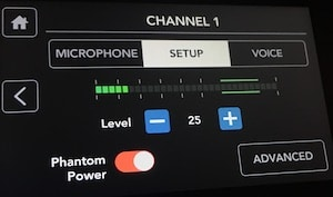 Rodecaster Pro channel 1 setup