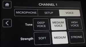 Rodecaster Pro channel 1 voice