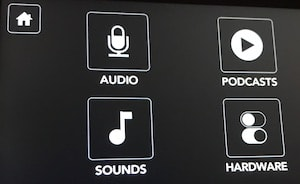 Rodecaster Pro settings screen