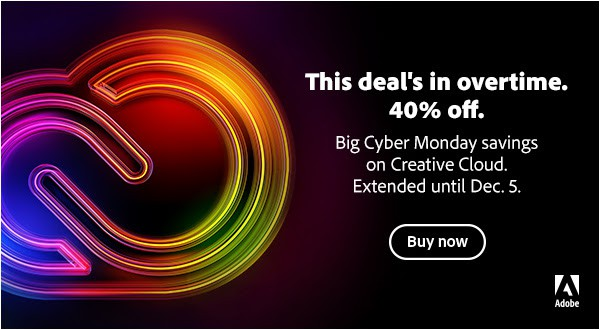 Adobe Cyber Monday 40% off