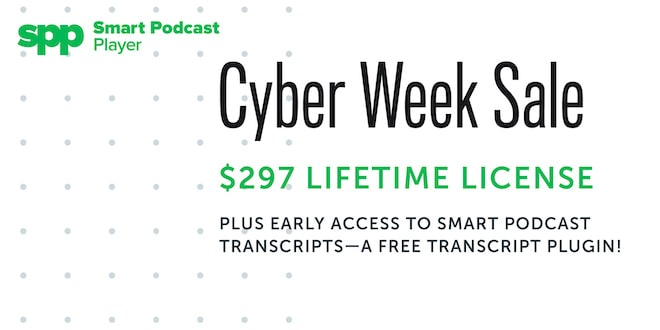 Smart Podcast Player Cyber Week Sale