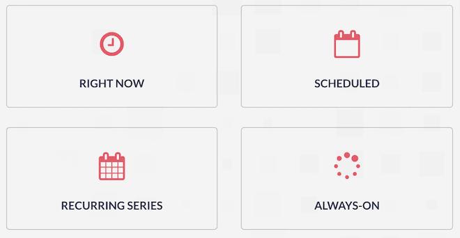 WebinarJam flexible scheduling options